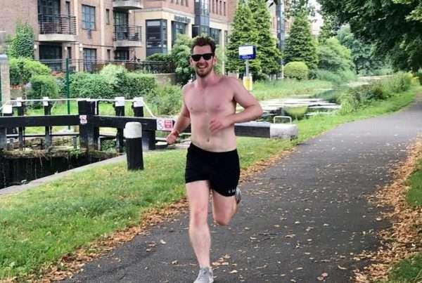 running topless in dublin